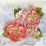 Prima Tatiana Collection Flower Embellishments Coral