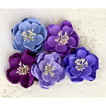 Prima - Giselle Collection - Flower Embellishments - Plum