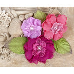 Prima - Paquita Collection - Flower Embellishments - Azelea