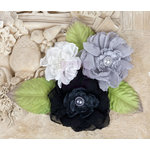 Prima - Paquita Collection - Flower Embellishments - Black Tie