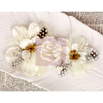 Prima - Firebird Collection - Flower Embellishments - White
