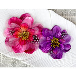 Prima - Firebird Collection - Flower Embellishments - Magenta