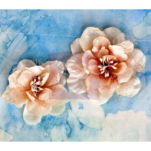 Prima - Odette Collection - Flower Embellishments - Almond