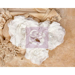 Prima - Paquita Collection - Fabric Flower Embellishments - White
