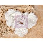 Prima - Paquita Collection - Fabric Flower Embellishments - White