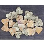 Prima - Natural Bark Icons - Wood Embellishments - Hearts