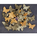 Prima - Natural Bark Icons - Wood Embellishments - Butterfly