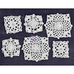 Prima - Fabric Embellishments - Crochet Doily - Square