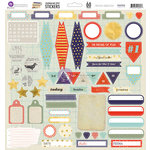 Prima - School Memories Collection - 12 x 12 Cardstock Stickers - Journaling Spot