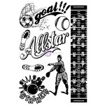Prima - Allstar Collection - Cling Mounted Rubber Stamps