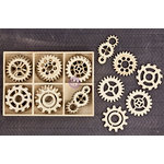 Prima - Wood Icons in a Box - Gears