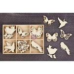 Prima - Wood Icons in a Box - Birds and Butterflies