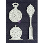 Prima - Resin Collection - Resin Embellishments - Clocks