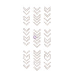 Prima - Say it in Crystals Collection - Self Adhesive Jewel Art - Pearls - Arrows - 1 - White