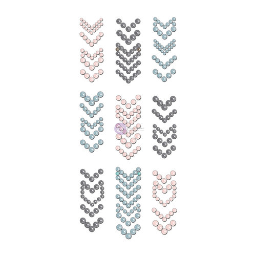 Prima - Say it in Crystals Collection - Self Adhesive Jewel Art - Pearls - Arrows - 2 - Multicolor