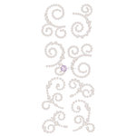 Prima - Say it in Crystals Collection - Self Adhesive Jewel Art - Pearls - Swirl - 1 - White