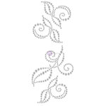 Prima - Say it in Crystals Collection - Self Adhesive Jewel Art - Bling - Swirl - 3 - Clear