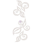 Prima - Say it in Crystals Collection - Self Adhesive Jewel Art - Pearls - Swirl - 2 - White