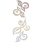 Prima - Say it in Crystals Collection - Self Adhesive Jewel Art - Pearls - Swirl - 2 - Multicolor