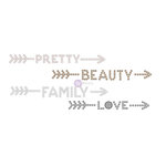 Prima - Say it in Crystals Collection - Self Adhesive Jewel Art - Pearls - Words - 1 - Multicolor