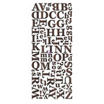 Prima - Alphabet Stickers - Wood Veneer - 1