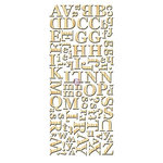Prima - Alphabet Stickers - Wood Veneer - 3