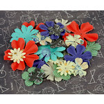 Prima - School Memories Collection - Flower Embellishments - 6