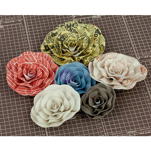 Prima - Allstar Collection - Flower Embellishments - Five