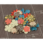 Prima - Allstar Collection - Flower Embellishments - Six
