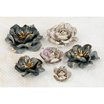 Prima - Bellas Collection - Flower Embellishments - Five