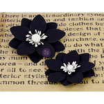Prima - La Tiza Collection - Chalk Board Flower Embellishments - 2