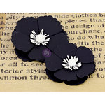 Prima - La Tiza Collection - Chalk Board Flower Embellishments - 3