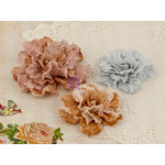 Prima - Scarlett Collection - Flower Embellishments - Three