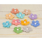 Prima - Perla Collection - Flower Embellishments - Three