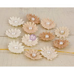 Prima - Perla Collection - Flower Embellishments - Four
