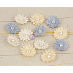 Prima - Perla Collection - Flower Embellishments - Five