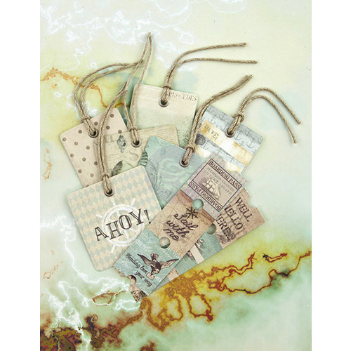 Prima - Seashore Collection - Tag Me - Ticket and Tag Set