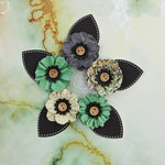 Prima - Seashore Collection - Flower Embellishments - Waves