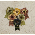 Prima - Time Travelers Memories Collection - Flower Embellishments - Hard Time