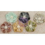 Prima - Time Travelers Memories Collection - Flower Embellishments - Big Time
