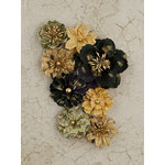 Prima - Time Travelers Memories Collection - Flower Embellishments - Spare Time