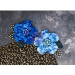 Prima - Plume Collection - Flower Embellishments - Azure