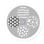 Prima - 7 Inch Mask - Pin Wheel Stencil - Round