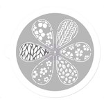 Prima - 7 Inch Mask - Pin Wheel Stencil - Petal