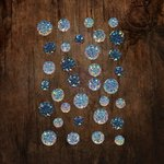 Prima - Say It In Crystals Collection - Self Adhesive Jewels - Azure