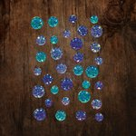 Prima - Say It In Crystals Collection - Self Adhesive Jewels - Aquamarine