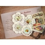 Prima - Cigar Box Secrets Collection - Fabric Embellishments - Crochet Icons
