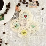 Prima - Coffee Break Collection - Fabric Embellishments - Crochet Icons