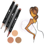 Prima - Mixed Media - Markers - Prima Palette Set - Brunette