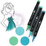 Prima - Mixed Media - Markers - Prima Palette Set - Sapphire